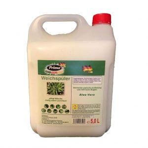 PRIMA Flüssig Weichspüler Aloe Vera im 5L-Kanister mit gratis Ausgießer