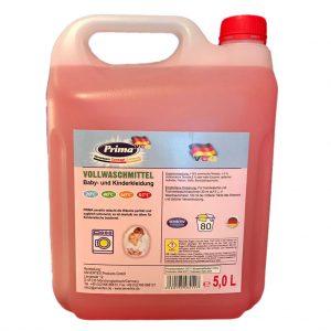PRIMA Flüssigwaschmittel Baby- und Kinderkleidung Sensitive im 5-Liter Kanister