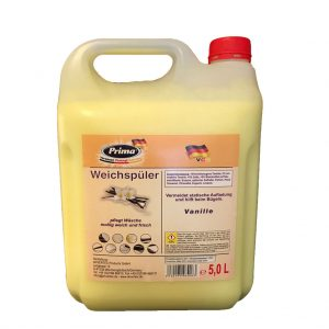 PRIMA Flüssig Weichspüler Vanille im 5L-Kanister mit gratis Ausgießer
